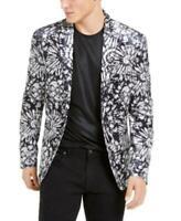 MSRP $150 Inc Men's Slim-Fit Velvet Flower Burst Blazer White Size XXL
