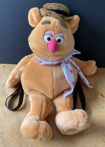 """The Muppets Fozzie Bear Plush Backpack Bag Soft Toy  - 24"""" - Jim Henson"""