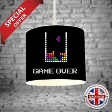 Tetris Bedroom Drum Lamp Light Shade Gaming Kids Room Decor Boys Girls Gift NEW4
