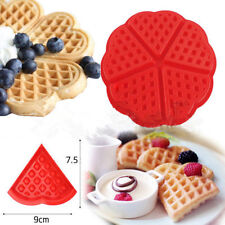 Silicone Waffle Mold Maker Pan Microwave Baking Cookie Cake Muffin Bakeware Tool