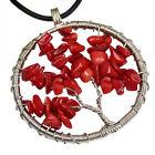 Vintage Vie Arbre Cabochon Pendentif Chain Collier Bijoux Pour Femme Fantaisie