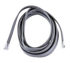 Cable plat RJ12 gris 6P6C Male/Male 1M / 1 mètre / 1 meter grey flat cable