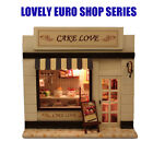 DIY Adorable Wooden Doll house Miniature Cake Love Shop Store Model Kit w/Light