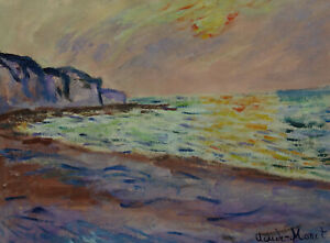 Rare & Unique original tempera, painting, signed Claude Monet, w COA, docs.
