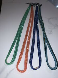 Bling Crystal Leather Lanyard Neck Strap