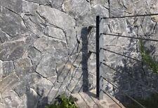 Unförmiger Naturstein Polygonal Bruch Verblender f.Mauer Anthrazit Living Rock