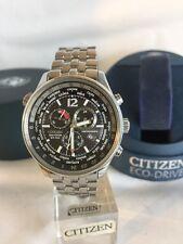 CITIZEN MEN'S World Time Eco-Drive Chronograph Pilot 24 Cities Time Show Watch.