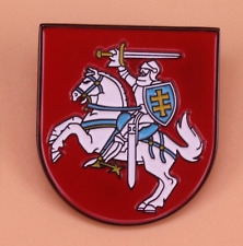 LITHUANIA Lithuanian Country National Emblem Horse Flag Vytis Lapel Pin Badge