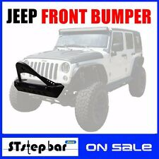 HOT SALES 07-17 JEEP WRANGLER JK TEXTURED BLACK FRONT BUMPER WITH WINCH PLATE