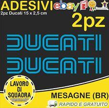 2 Adesivi Stickers DUCATI OLD panigale 848 1098 999 749 916 998 748 996 CIANO