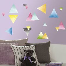 Watercolor Triangles 76 BiG Wall Decals Accent Shapes Room Decor Stickers New