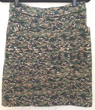 Edme & Esylte Velveteen Career Pencil Skirt Green Ivory Gold Black Womens Size 6