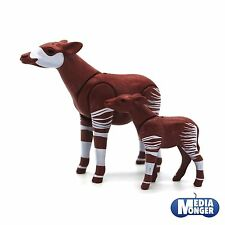 playmobil Safari Zoo Wildlife: WWF Giraffa della foresta Okapi Mucca con Vitello