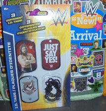 Wwe I.D Tags Dog lot of 3 Daniel Bryan Danielson Nxt New Yes Movement Roh Nxt