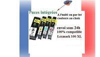 Lot de cartouches d'encre compatibles lexmark 100XL 100 XL Genesis envoi ss 24H.