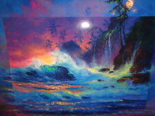 """James Coleman Signed & Numbered 62/450 Mixed Media """"Hawaiian Afterglow""""(20 by 24"""