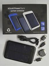 Solar Power Bank 7200mAh Extender Battery phone, digital camera, MP3 Black
