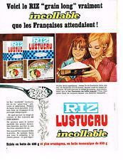 PUBLICITE ADVERTISING  1969   LUSTUCRU   riz incollable