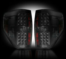 RECON FORD F150 SMOKED LED TAIL LIGHTS 09-14 PART# 264168BK