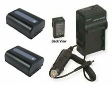 Two Batteries + Charger for Sony NPFV30 NPFV40 NPFV50 HXR-MC50U HXR-MC50E