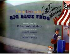 Peter Yarrow signed I'm In Love With A Big Blue Frog book/CD Peter Paul & Mary