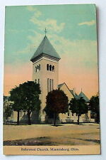 1924 POSTCARD REFORMED CHURCH MIAMISBURG OHIO #5464r