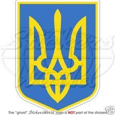 """UKRAINE Ukrainian Coat of Arms, Tryzub Vinyl Bumper Sticker -Decal 100mm (4"""")"""