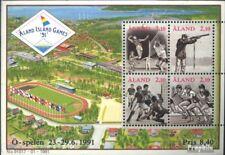 Finland-Aland Blok 1 gestempeld 1991 Sportgames