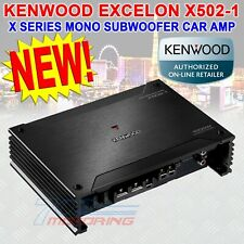Kenwood Excelon X502-1 Class-D Mono Car Amplifier 500 Watts Rms at 2 ohms New!