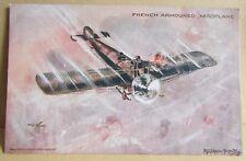 Old Algerron Black Artist Signed Aircraft Postcard - French Armoured Aeroplane