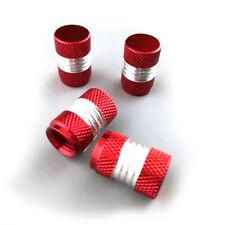 4x Car Red Anodized Aluminum Tire Wheel Air Pressure Valve Stem Caps Accessories