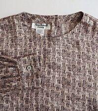 ANNE KLEIN II $275 Pink Gray Print Silk Blouse Shirt Top Women Petite Sz M NWOT