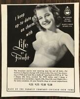 1940 Formfit Brassiere PRINT AD Young Woman in Bra Talks About Staying in Style