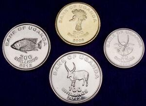 Uganda 500 to 50 Shilling 2007-12 UNC Set - 4 pcs (GLCS-001)