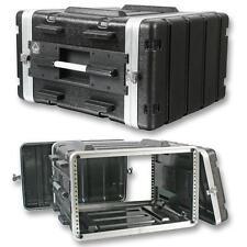 "555-15630 6U Rack Flight Case 19"" Stackable ABS Amplifiers Effects Processor"