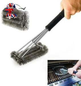 """Quality 18"""" Triangle Metal BBQ Grill Cleaning Brush, Heavy Duty 3-Branch Stainle"""