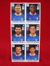 Panini EM 2012 Italien 6 Extra Sonder-Sticker Update Bogen EM 12 Polen/Ukraine