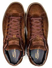 Santoni Sneaker mit hohem Schaft in braun aus Veloursleder /// Reg. EUR 420