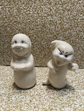 Ceramic ghost spooky Halloween Lot of 2- 5 inch