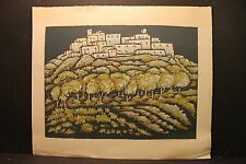 "Gertrude Weibe Mihsfeldt 1901-1989, "" Castle Chapultepec "",Signed Serigraph 1948"