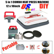 US 12 x 10inch Portable Iron T-shirt Heat Press Transfer Printing Machine 5 in 1