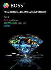 A4 Laminating Pouches Gloss 250 Micron (100 Pack) Premium BOSS Brand Quality