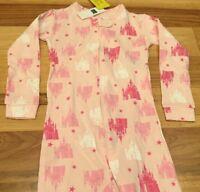 Baby Gap Girls 5 / 5T Disney Princess Castle Pink 1-Piece Footed Pajamas. Nwt