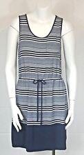 Olive & Oak Womens Blue White Striped Tie Waist Tank Dress Size Small Free Ship