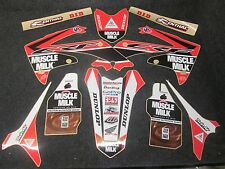 Honda CRF250 2010-2013 CRF450 2009-2012 Muscle Milk graphics + plastics GR1521