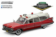 1:18 GreenLight PRECISION MINIATURES 1959 Cadillac Ambulance RED & WHITE *NIB*