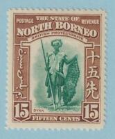 NORTH BORNEO 201  MINT HINGED  OG *  NO FAULTS EXTRA FINE !