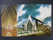 Waikiki Hawaii St Augustine Church Vintage Color Chrome Postcard 1960s