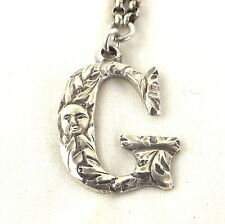 Letter G Wine Decanter Label Georgian Solid Sterling Silver c1820