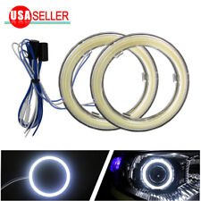 2x 90mm 6000K Super White 105 COB LED Angel Eyes Halo Ring w/ cover Fog light